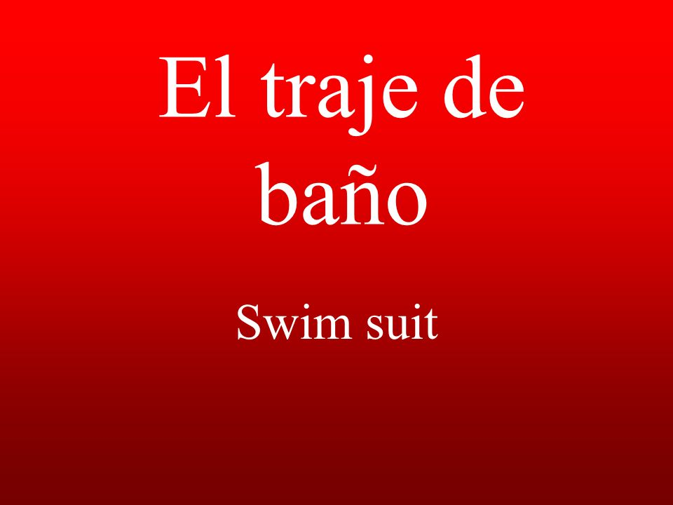 El traje de baño Swim suit