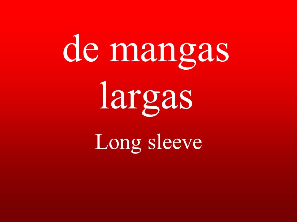 de mangas largas Long sleeve