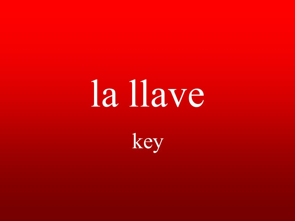 la llave key