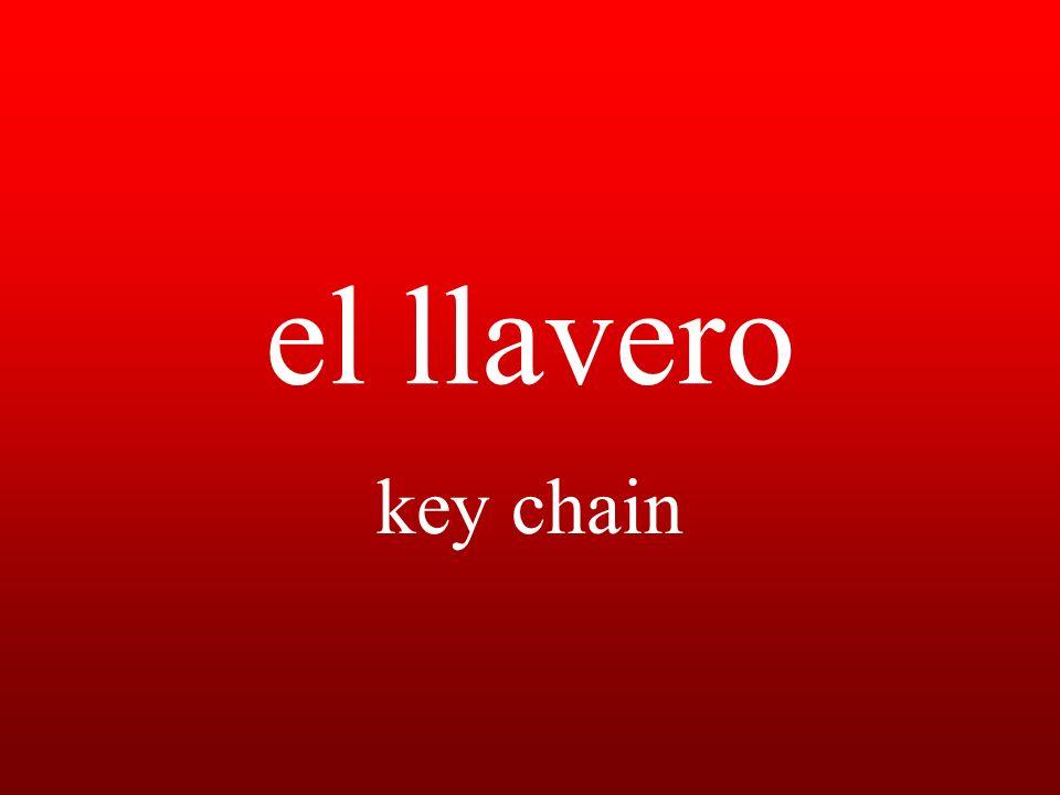 el llavero key chain