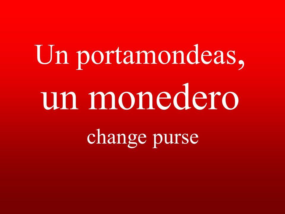 Un portamondeas, un monedero change purse