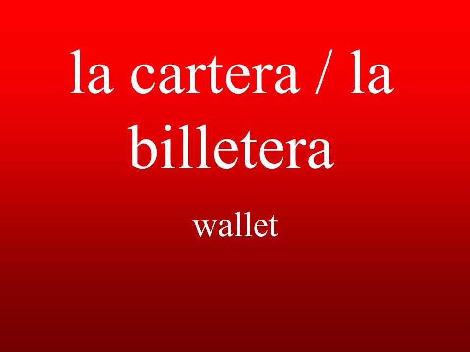 la cartera / la billetera wallet
