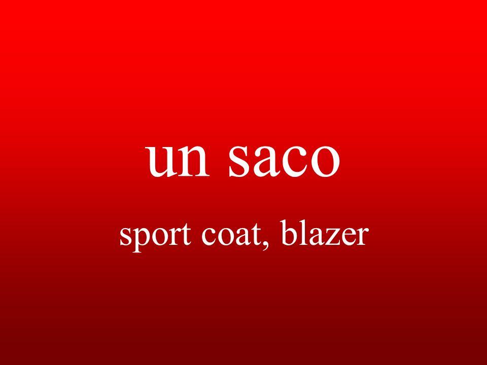 un saco sport coat, blazer
