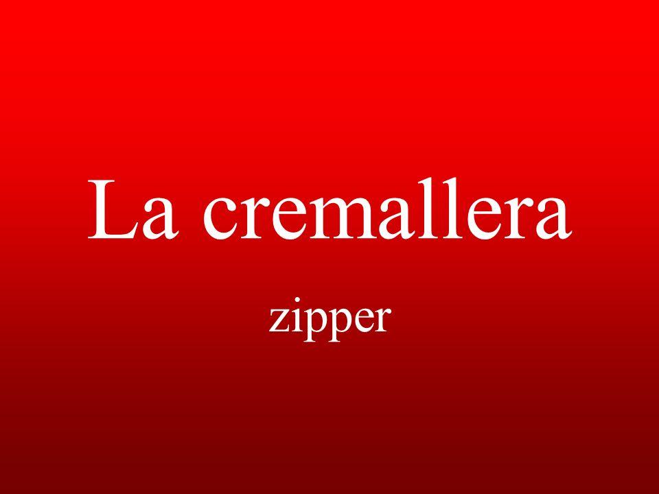 La cremallera zipper