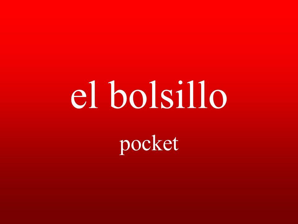 el bolsillo pocket