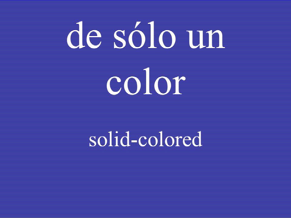 de sólo un color solid-colored