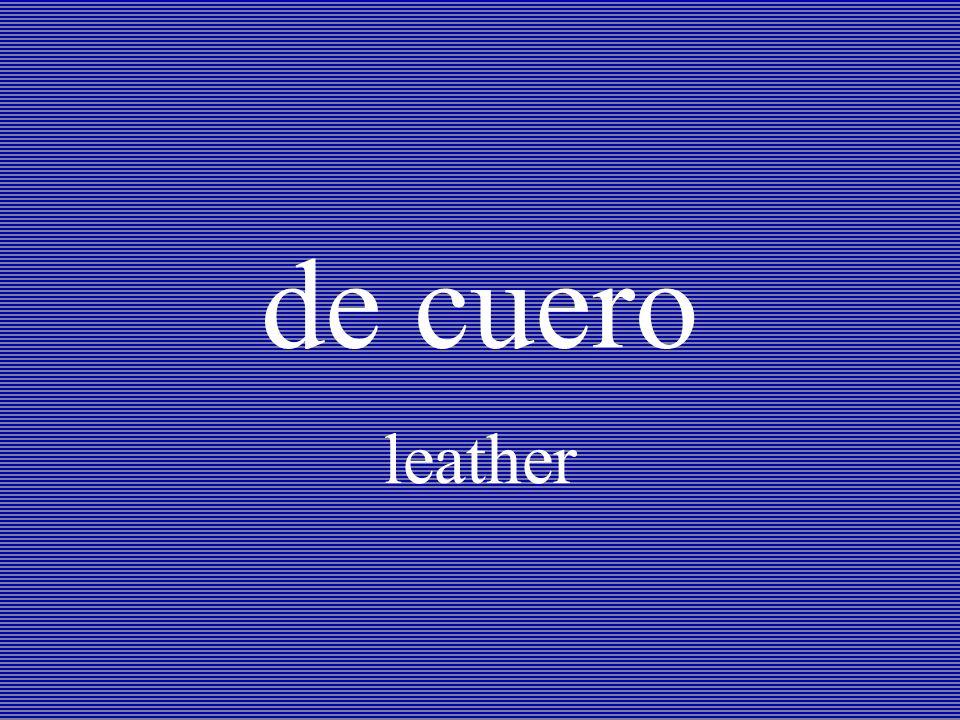 de cuero leather