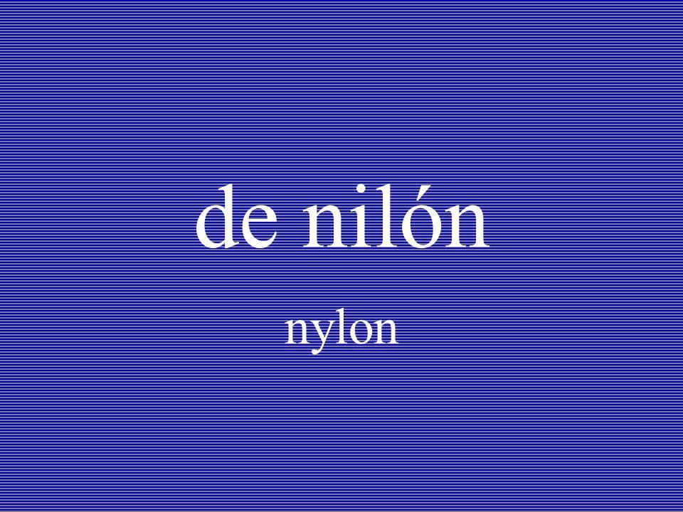 de nilón nylon