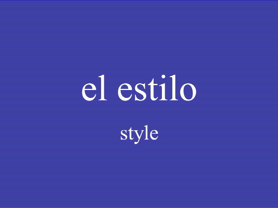 el estilo style