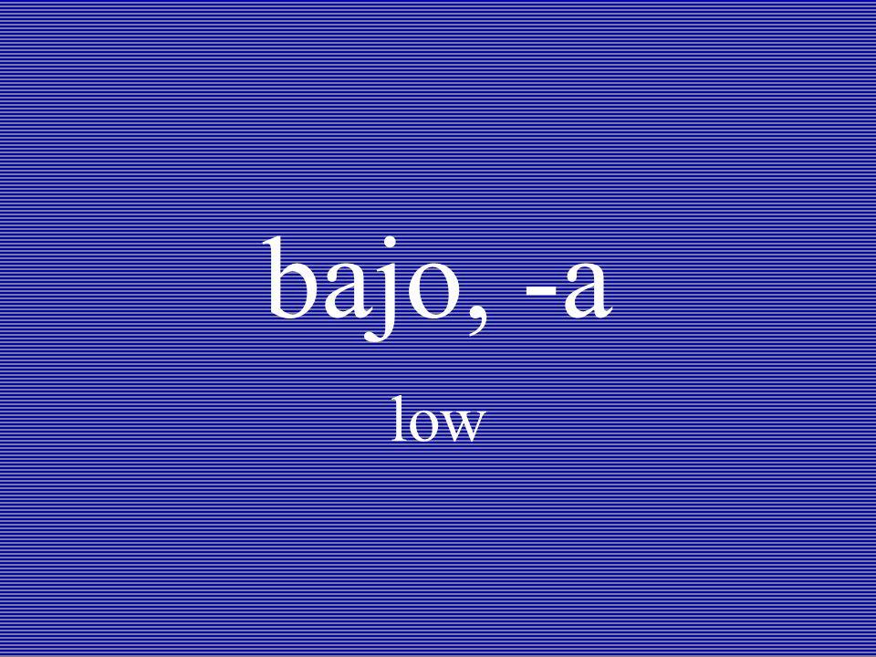bajo, -a low