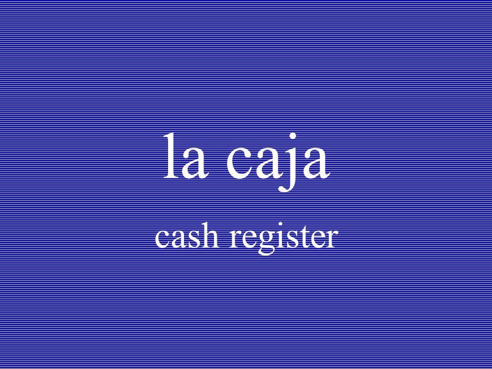 la caja cash register
