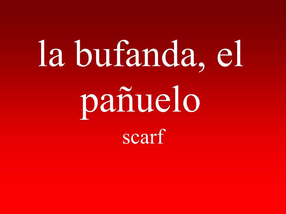 la bufanda, el pañuelo scarf