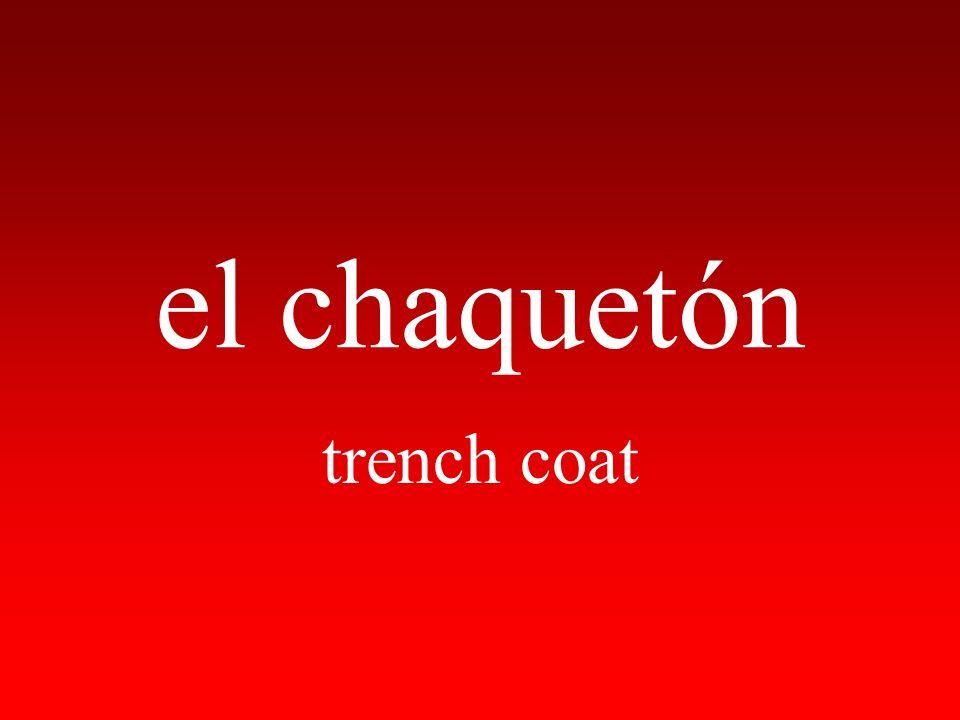 el chaquetón trench coat