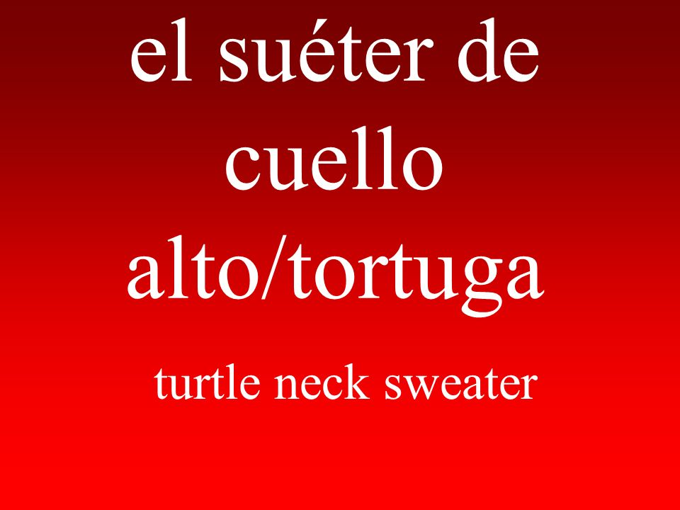 el suéter de cuello alto/tortuga turtle neck sweater