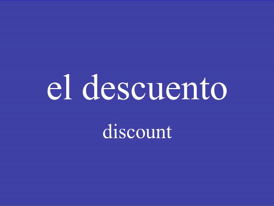 el descuento discount