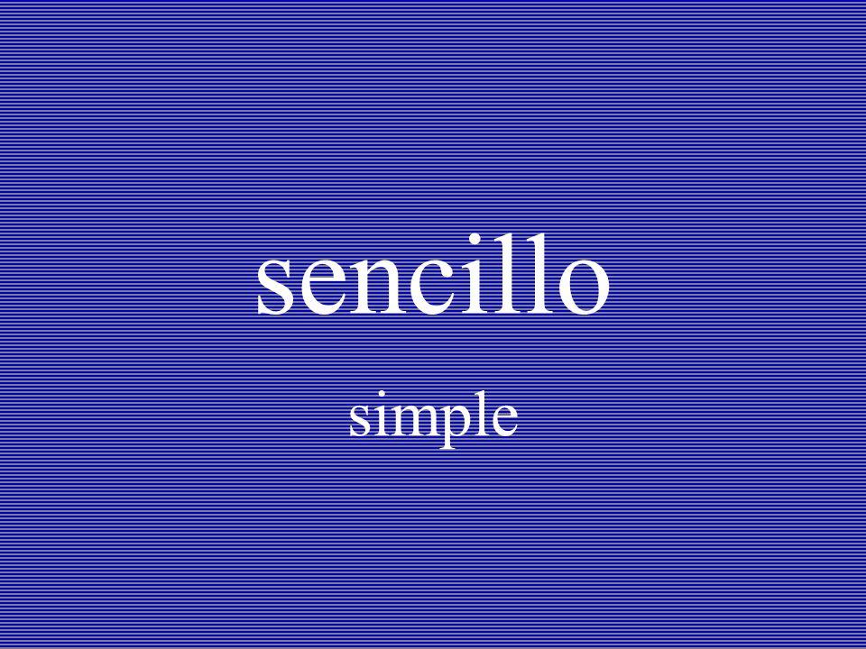 sencillo simple