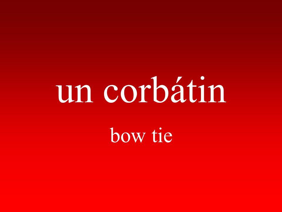 un corbátin bow tie