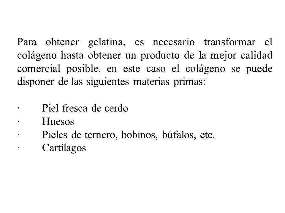 MATERIA PRIMA LIMPIEZA TROZADOGELIFICACION CONCENTRADO EXTRACCION NEUTRALIZACION REMOJO EN MEDIO ACIDO DESGRASADO FILTRADO SECADO TRITURADO EMPACADO Y ALMACENADO 3% Ac.