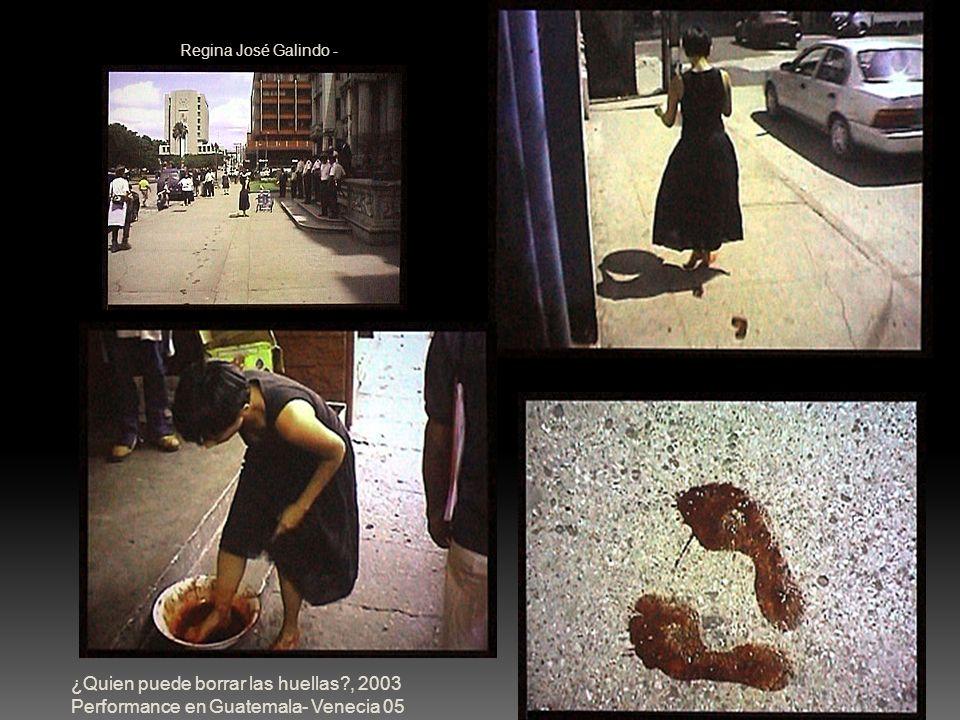 Regina José Galindo - ¿Quien puede borrar las huellas?, 2003 Performance en Guatemala- Venecia 05