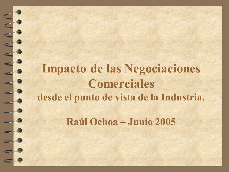 Impacto de las Negociaciones Comerciales desde el punto de vista de la Industria. Raúl Ochoa – Junio 2005