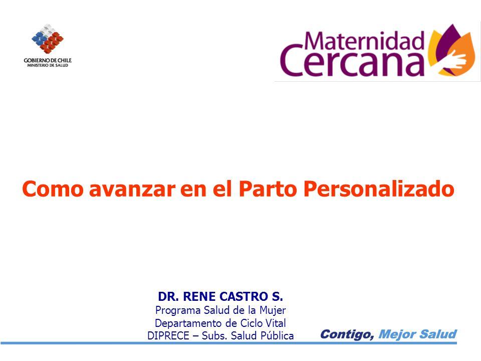 DR.RENE CASTRO S. Programa Salud de la Mujer Departamento de Ciclo Vital DIPRECE – Subs.