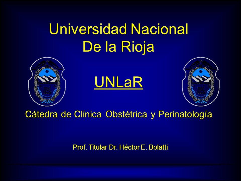 H.E.B.CATEDRA DE CLINICA OBSTETRICA Y PERINATOLOGIA UNLaR Intervenciones Obstétricas Prof.Dr.