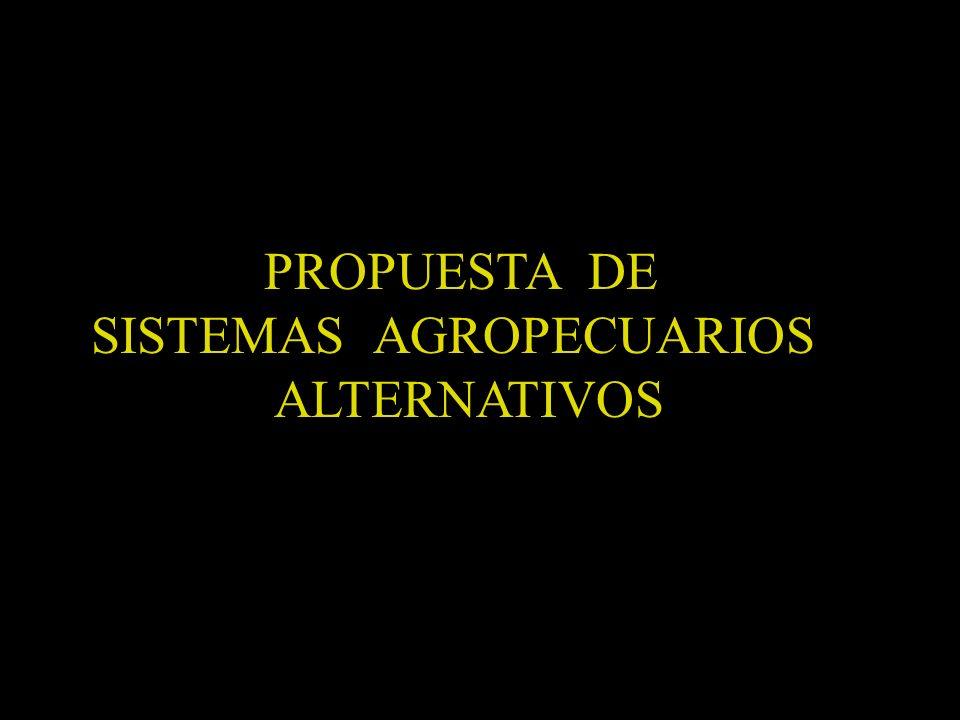 PROPUESTA DE SISTEMAS AGROPECUARIOS ALTERNATIVOS