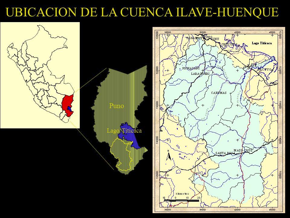 UBICACION DE LA CUENCA ILAVE-HUENQUE Lago Titicaca Puno