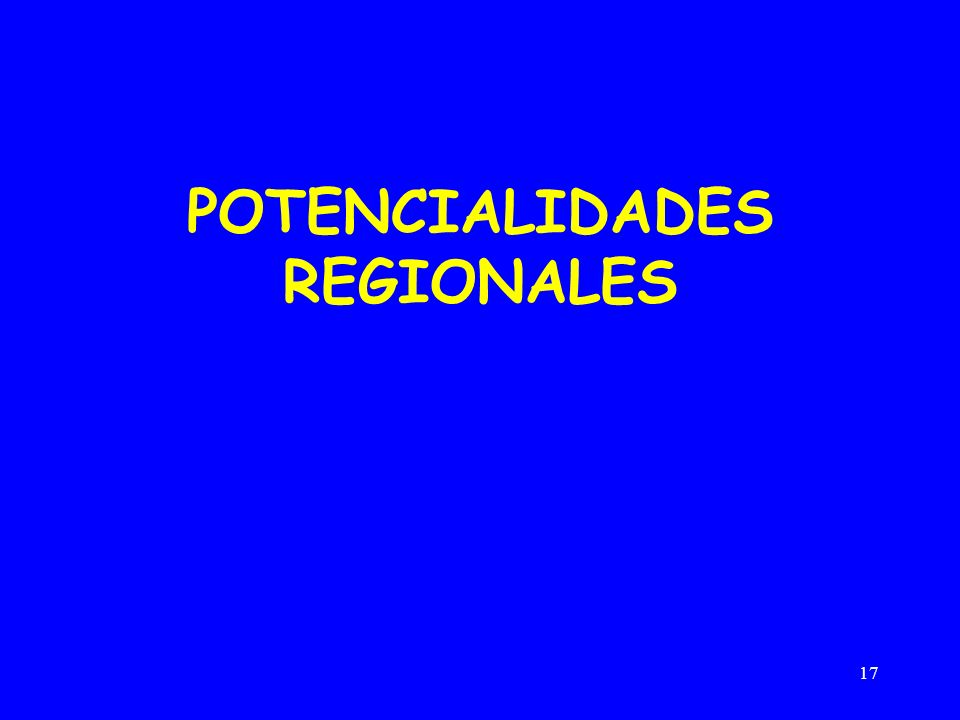 17 POTENCIALIDADES REGIONALES
