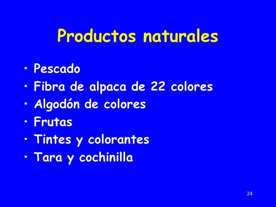 24 Productos naturales Pescado Fibra de alpaca de 22 colores Algodón de colores Frutas Tintes y colorantes Tara y cochinilla