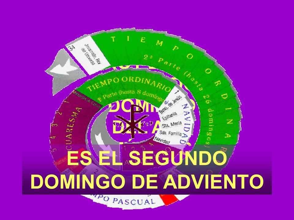 HOY ES EL SEGUNDO DOMINGO DEL AÑO LITÚRTGICO ES EL SEGUNDO DOMINGO DE ADVIENTO
