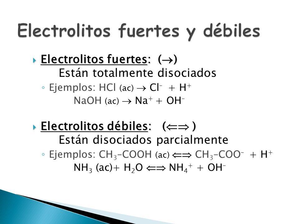 Ácidas: H 3 O + > 10 –7 M pH < 7 Básicas: H 3 O + 7 Neutras: H 3 O + = 10 –7 M pH = 7 En todos los casos: K w = H 3 O + · OH –