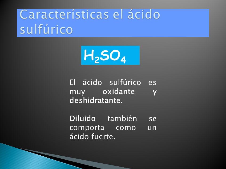 El ácido sulfúrico es un compuesto químico muy corrosivo. Es el compuesto químico que más se produce en el mundo, por eso se utiliza como uno de los t