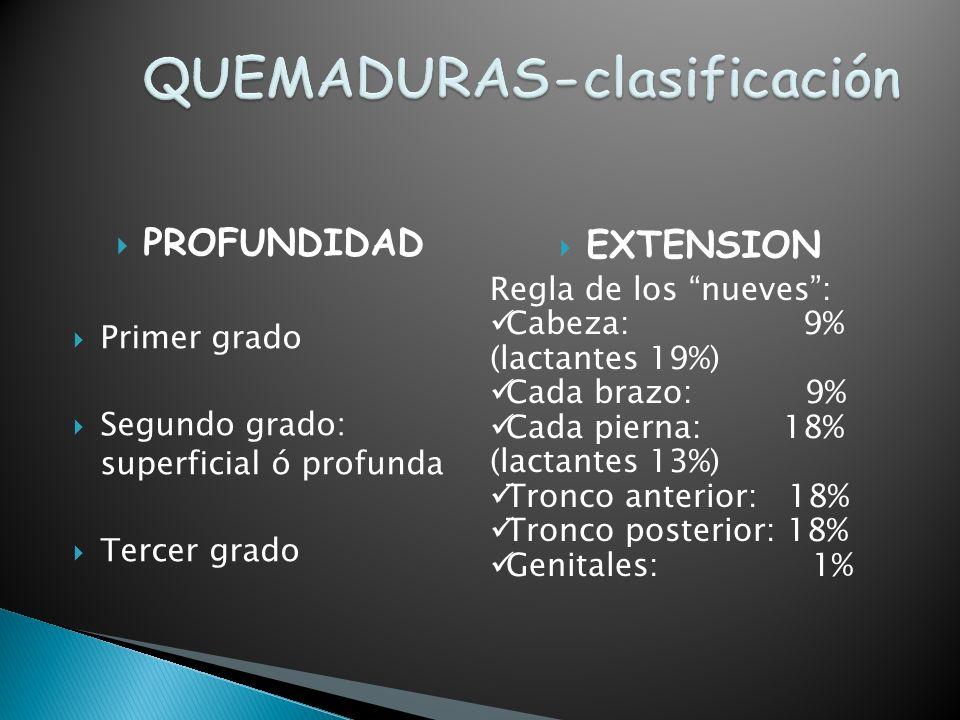 CAUSAS DE QUEMADURAS AGENTES FISICOS CALOR-FRIOELECTRICIDADRADIACIONES AGENTES QUIMICOS ACIDOS ALCALIS