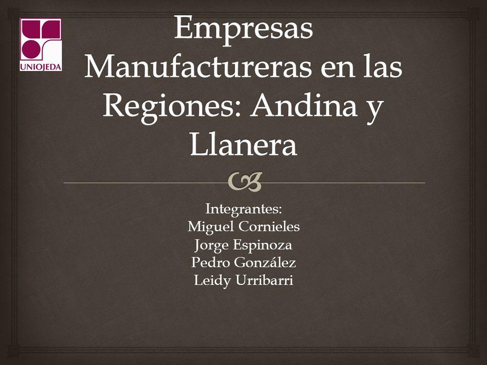 Integrantes: Miguel Cornieles Jorge Espinoza Pedro González Leidy Urribarri