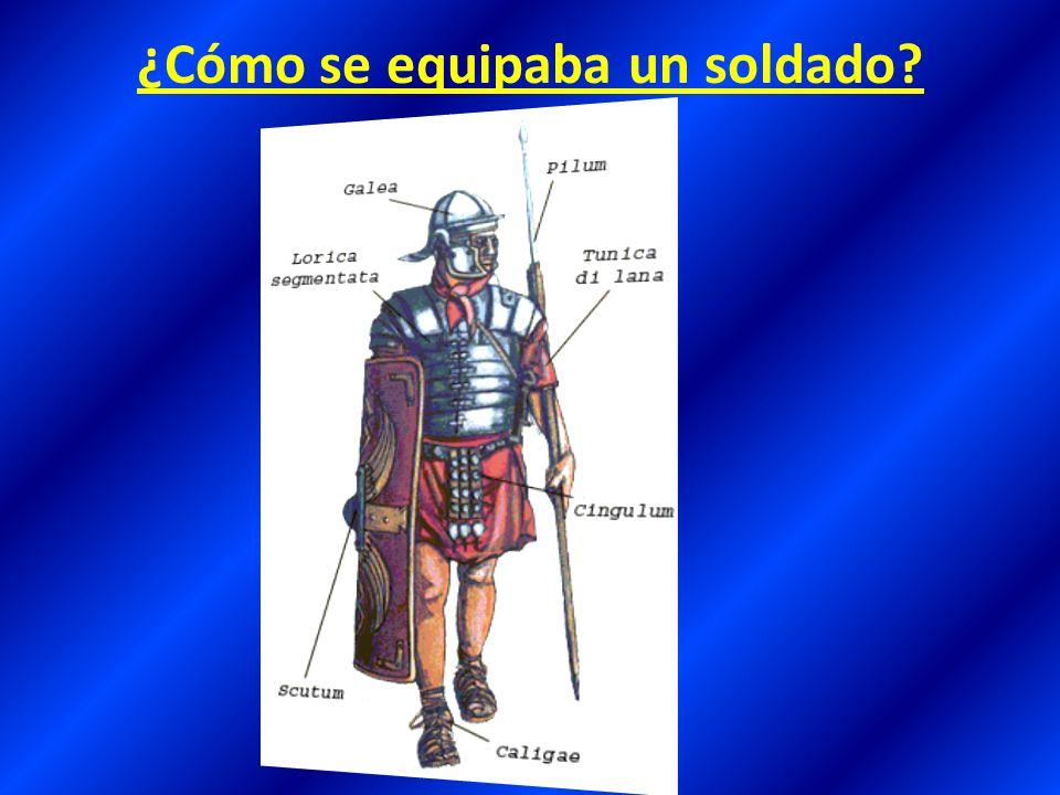 ¿Cómo era la organización de las tropas del ejército romano.