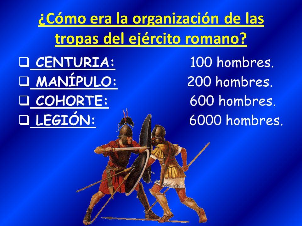 La jerarquía militar del ejército romano Cónsul: (consul, -ulis).