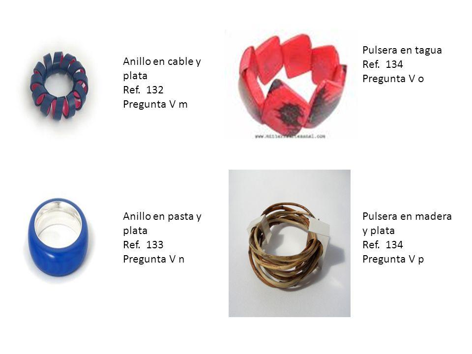 Anillo en cable y plata Ref. 132 Pregunta V m Anillo en pasta y plata Ref.