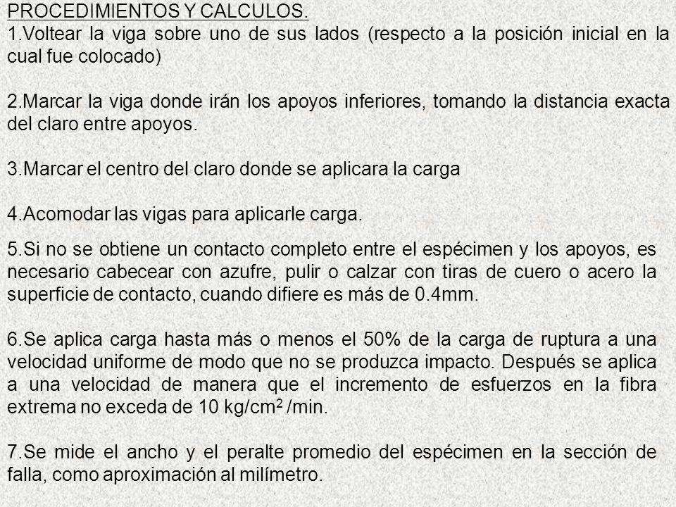 PROCEDIMIENTOS Y CALCULOS.