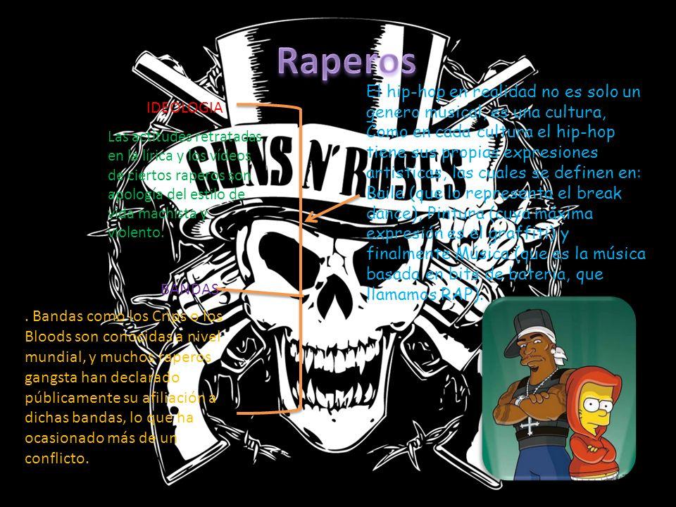 El hip-hop en realidad no es solo un genero musical, es una cultura, Como en cada cultura el hip-hop tiene sus propias expresiones artisticas, las cuales se definen en: Baile (que lo representa el break dance), Pintura (cuya máxima expresión es el graffiti) y finalmente Música (que es la música basada en bits de bateria, que llamamos RAP).