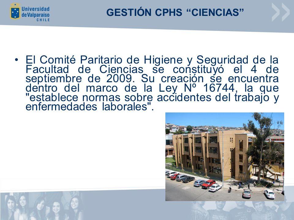 El Comité Paritario de Higiene y Seguridad de la Facultad de Ciencias se constituyó el 4 de septiembre de 2009.