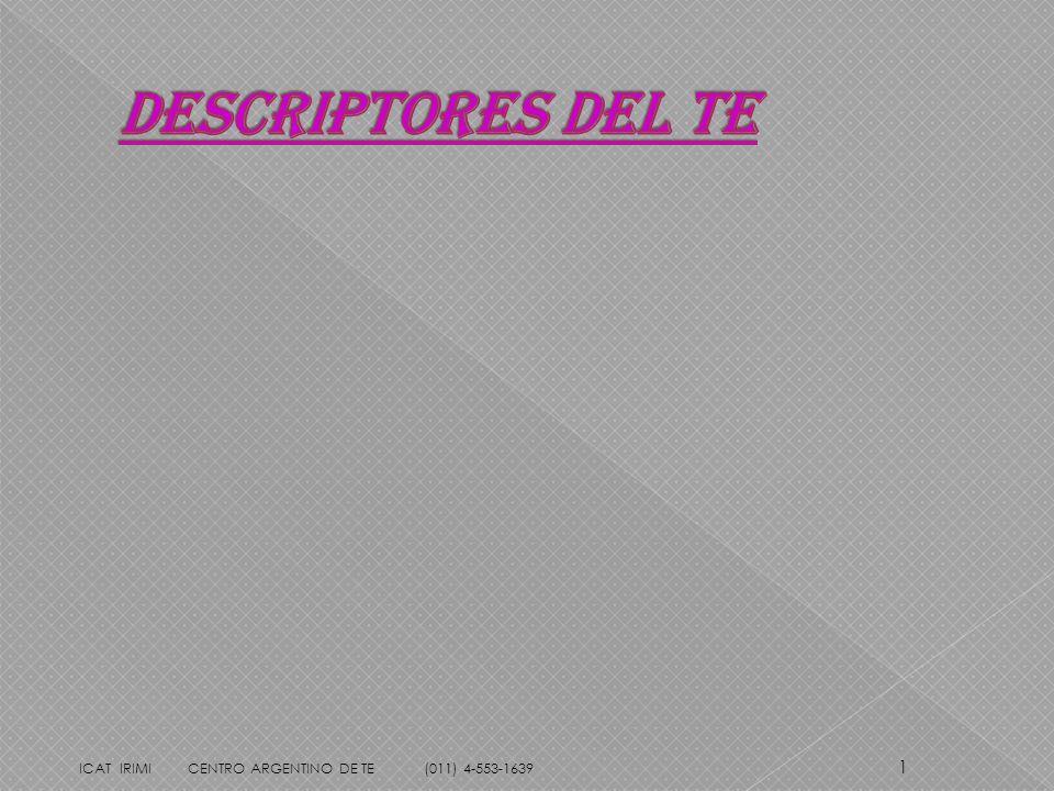 1 ICAT IRIMI CENTRO ARGENTINO DE TE (011) 4-553-1639