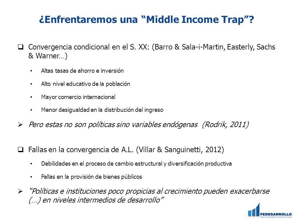 ¿Enfrentaremos una Middle Income Trap.Convergencia condicional en el S.