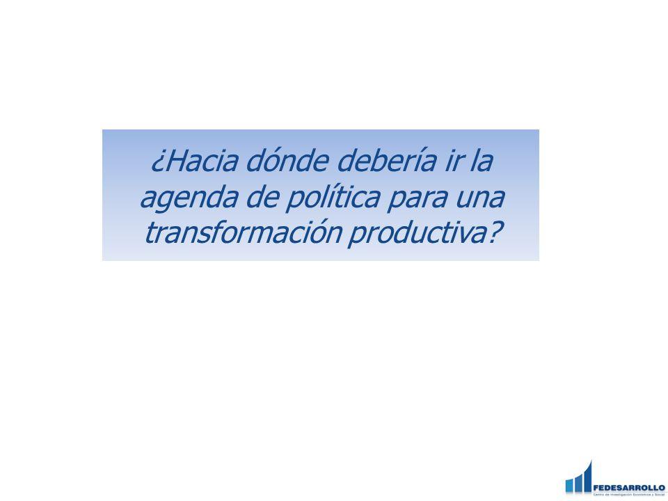 ¿Hacia dónde debería ir la agenda de política para una transformación productiva?