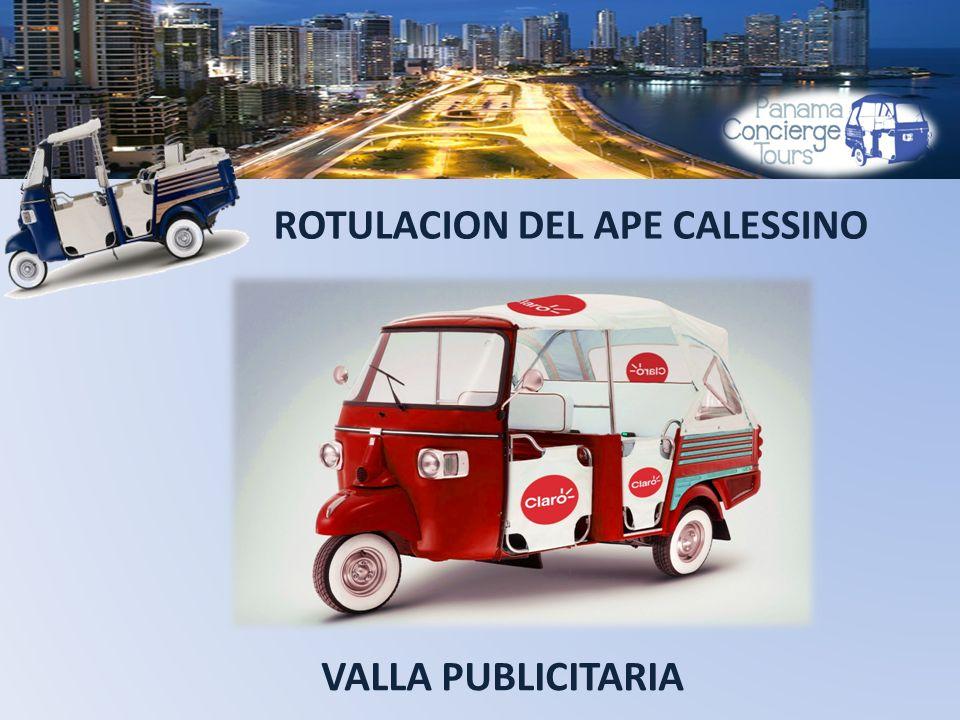 ROTULACION DEL APE CALESSINO VALLA PUBLICITARIA