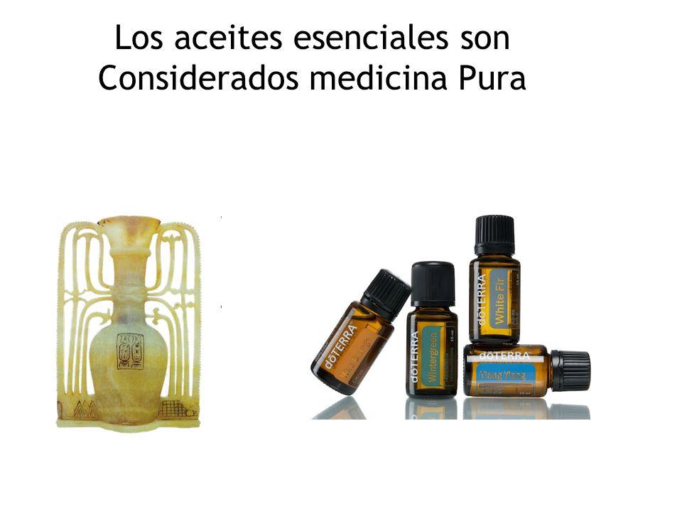 Los aceites esenciales son Considerados medicina Pura