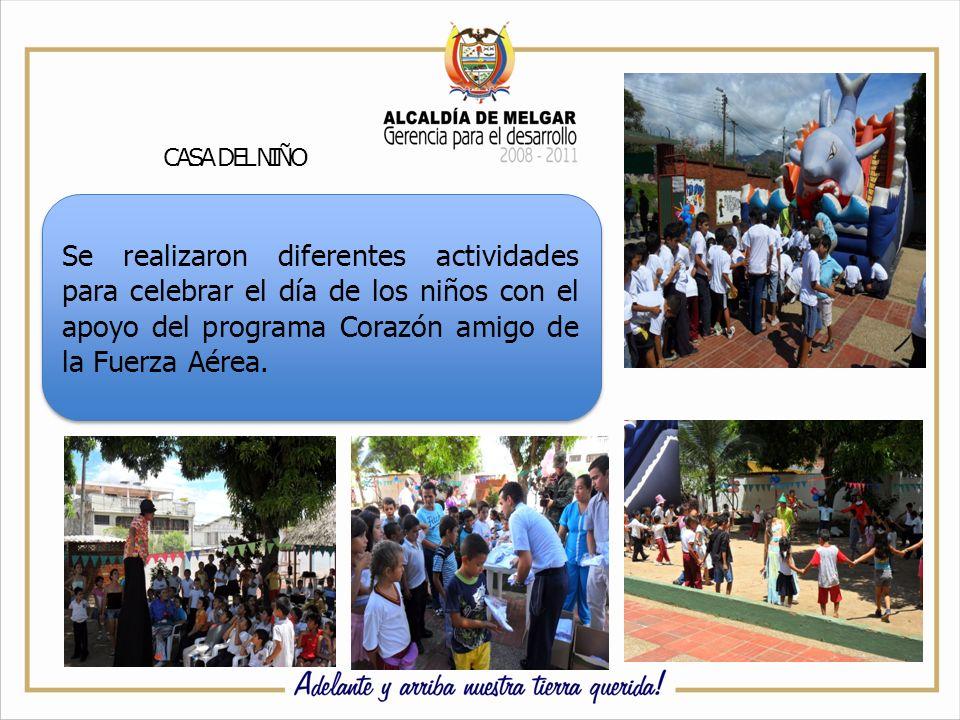 CASA DEL NIÑO Se realizaron diferentes actividades para celebrar el día de los niños con el apoyo del programa Corazón amigo de la Fuerza Aérea.