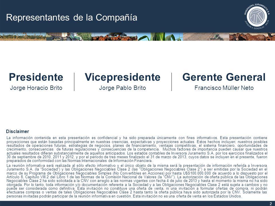 Infraestructura 23 Actualmente Inversora Juramento cuenta con un total de 81.759 hectáreas en Joaquín V.