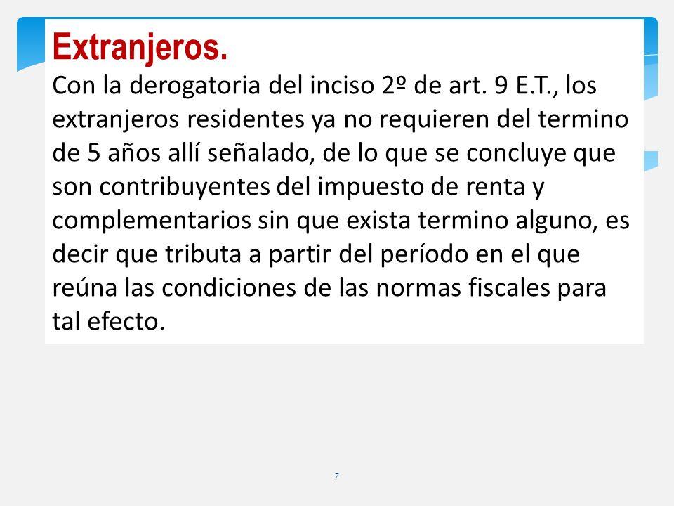 Continuación Art.10 Ley 1607/12. (art.