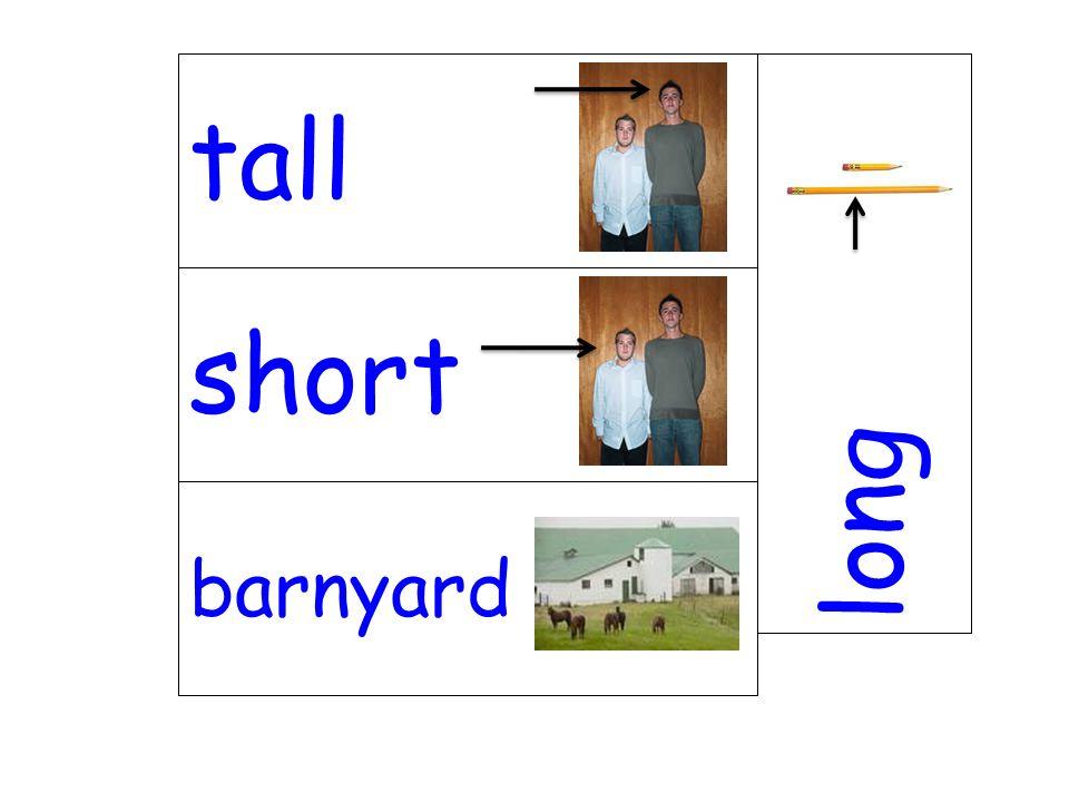 short long barnyard tall